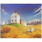 """Laundry Day,"" Brilliant Ptg. of Rural North Carolina Life During World War II"