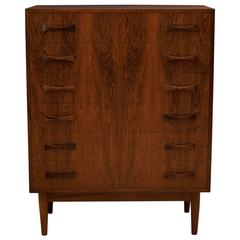 Vintage Danish Rosewood Tall Dresser Chest