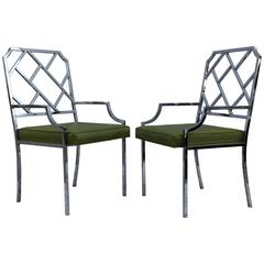Milo Baughman for DIA Chrome Armchairs
