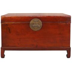 Fine Leather Trunk on Stand