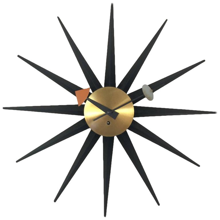 George nelson clock for howard miller for sale at 1stdibs for Nelson wall clock