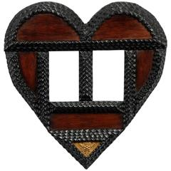 Heart Shaped Tramp Art 'Wedding Frame'