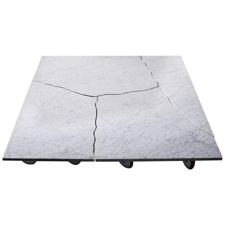 "Paolo Ulian ""Tavolo Brecciato,"" Carrara Marble Table, Le Fablier, Italy"