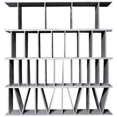 Paolo Ulian, Numerica, Carrara Marble Bookcase, Le Fablier, Italy