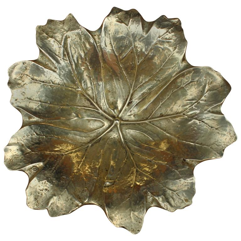 Virginia Metalcrafters Brass Leaf Dish