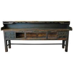 19th Century Wooden Narrow Sideboard