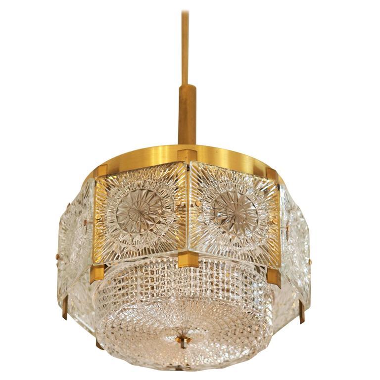 Beautiful Mid-Century Brass Chandelier