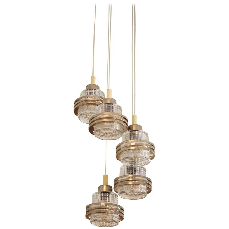 Mid-Century Cascading Chandelier