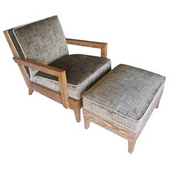 """The Las Palmas Chair & Ottoman"" by Christopher Anthony Ltd."