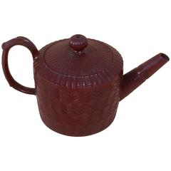 19th Century German Pottery Teapot, in the Chinese manner