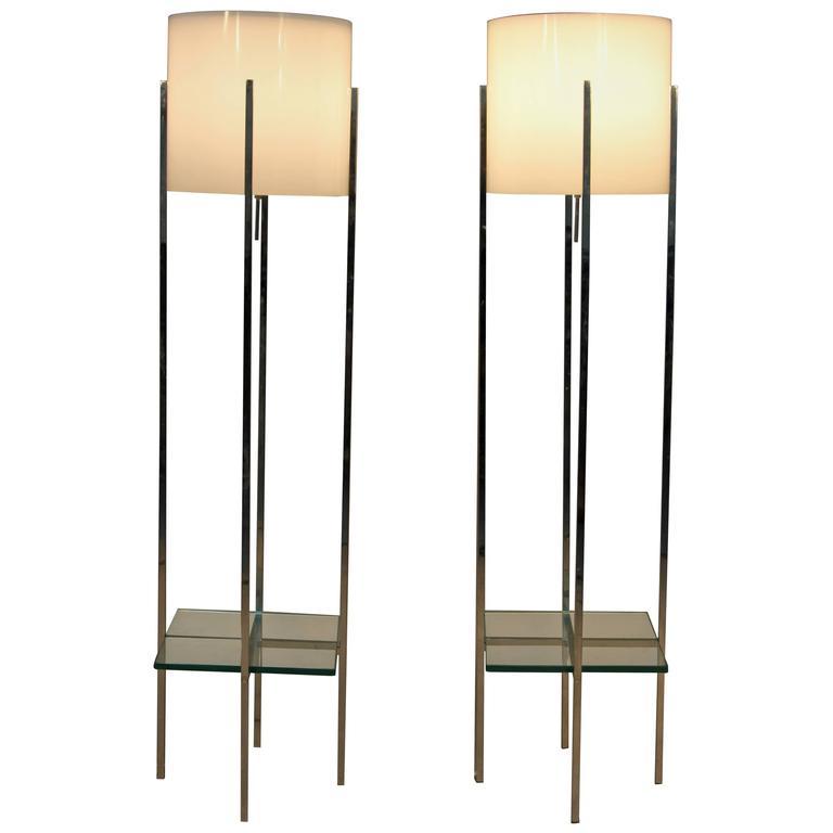 Pair of paul mayen for habitat floor lamps at 1stdibs for Habitat chrome floor lamp