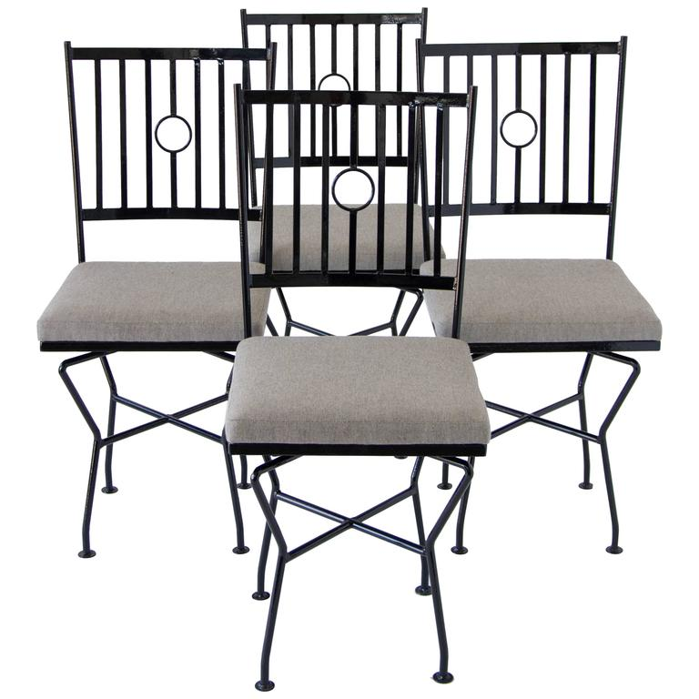 Wrought iron dining room chairs