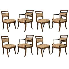 Set of Eight Regency Style Dining Chairs, Parish Hadley, circa 1976