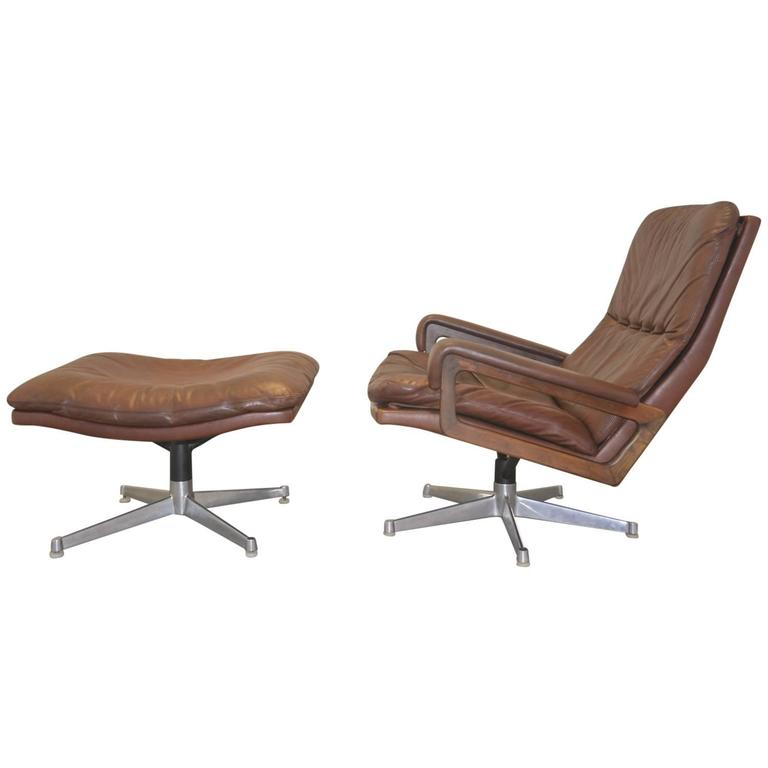 Brilliant Vintage Strassle King Lounge Armchair And Ottoman 1960 S 1Stdibs Com Pabps2019 Chair Design Images Pabps2019Com
