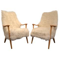 Pair of Beautiful Norvegian Lounge Chair Signed More Lenestolfabrikk AS