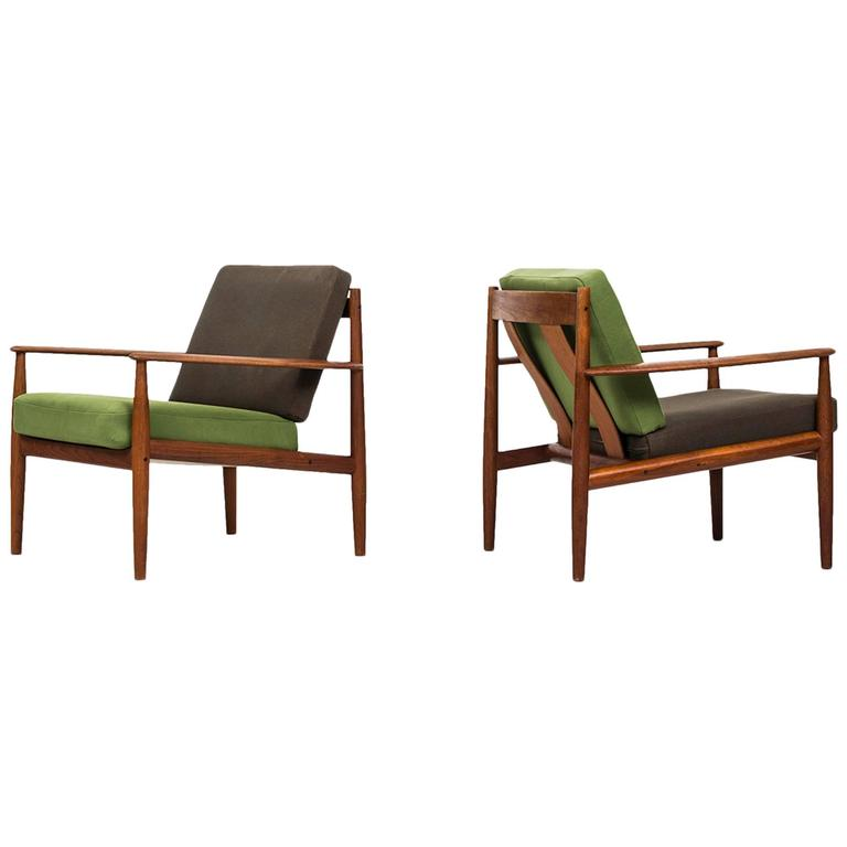 Grete Jalk Easy Chairs Model 118 Produced by France & Son in Denmark