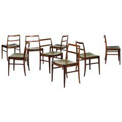 Arne Vodder Dining Chairs Model 430 Produced by Sibast Møbelfabrik in Denmark