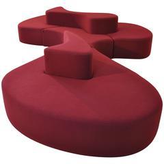 Monumental 1980s 'Island' Sofa