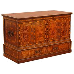 German Marquetry Nonesuch Chest