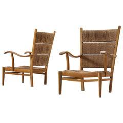 Bas Van Pelt Pair of Easy Chairs in Oak
