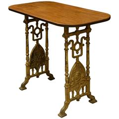 Victorian Royal Jubilee Cast Iron and Mahogany Table