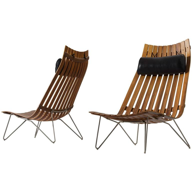 Hans Brattrud Pair Of Early 39 Scandia 39 Lounge Chairs For Sale At 1stdibs