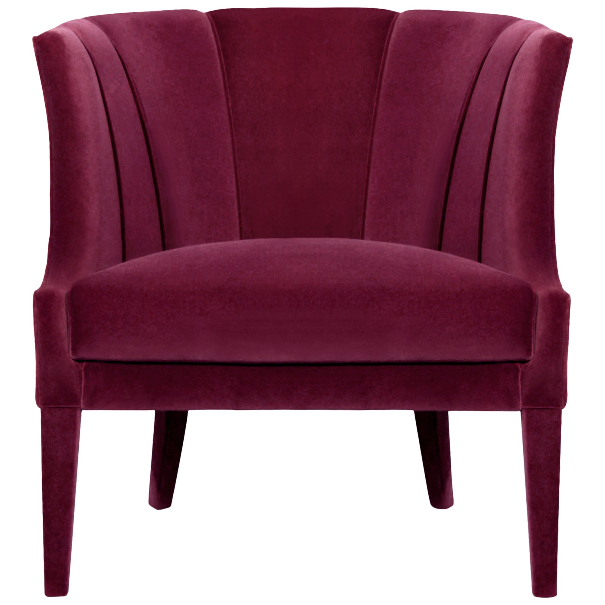 Awesome Camilla Armchair In Cotton Velvet And Fully Upholstered Bralicious Painted Fabric Chair Ideas Braliciousco