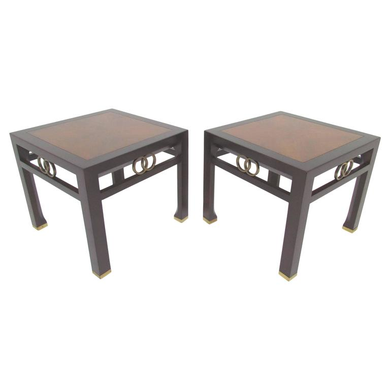 Pair of Two-Toned Side Tables by Michael Taylor for Baker Furniture, circa 1960s