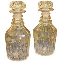 Pair of 19th Century Crystal Decanters