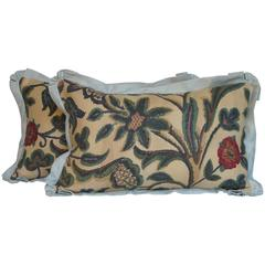 Vintage French Printed Linen Pillows by Mary Jane McCarty