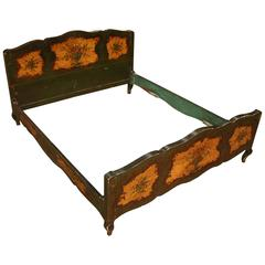 20th Century Venetian Lacquered and Gilded Bed