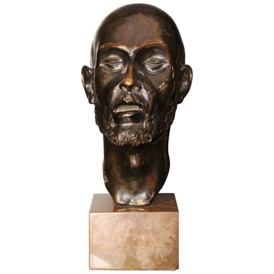 1920 Head Bronze Sculpture by Erik Cohort