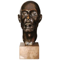 1920 Head Bronze Sculpture by Erik Cohort