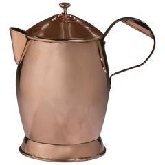 English Copper Ale Jug, 19th Century