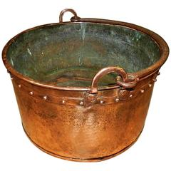 Antique Copper Log Bucket