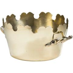 French Brass Round Montieth, 19th Century