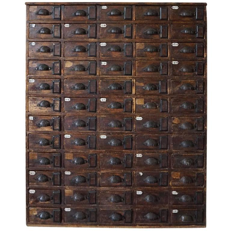 French Oak Apothecary Cabinet 1900s At 1stdibs