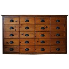 French Pine Apothecary Cabinet, 1920s-1930s