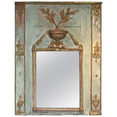 Antique Louis XVI Gold Trumeau Mirror