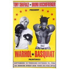 Warhol & Basquiat Exhibition Poster