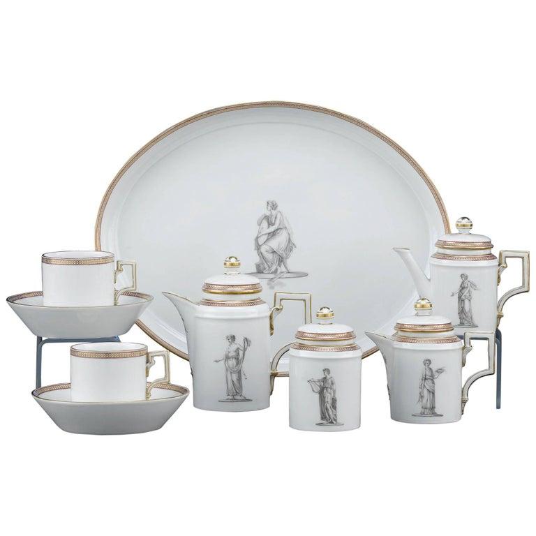 18th Century KPM Porcelain Tea Service For Sale