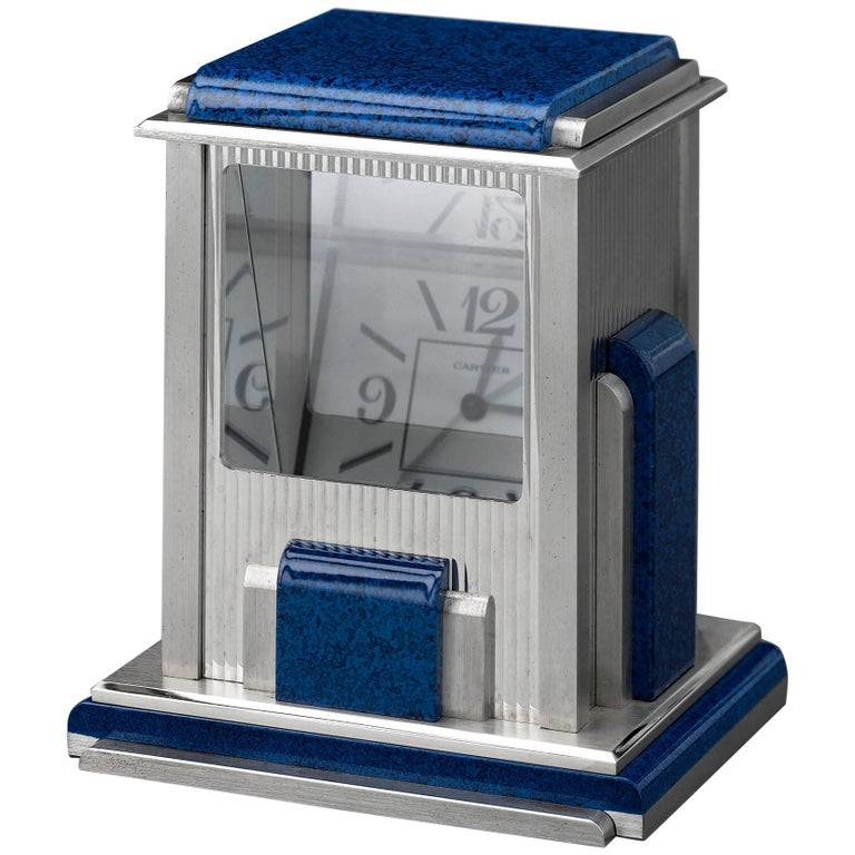 Cartier Prism Mystery Clock For Sale