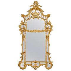 George II Giltwood Mirror Chippendale-Style