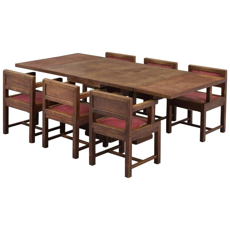 art deco dining room set in mahogany for sale at 1stdibs