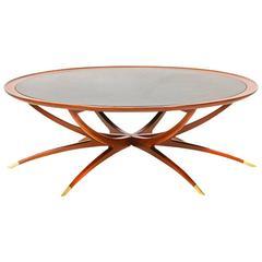 Danish Teak Folding Spider Leg Coffee Table by Selig