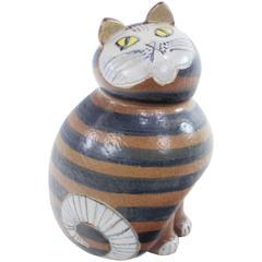 Large Danish Modern Ceramic Cat by Lisa Larsen