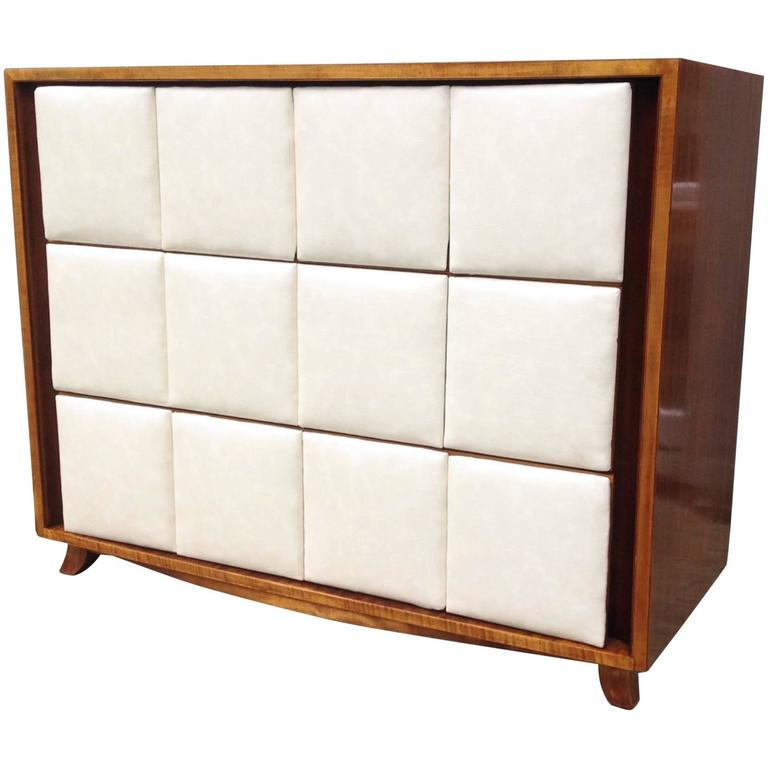 Three-Drawer Mahogany Chest Gilbert Rohde for Herman Miller For Sale