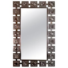 Mid-Century Modern Nickeled Silver Wall Mirror