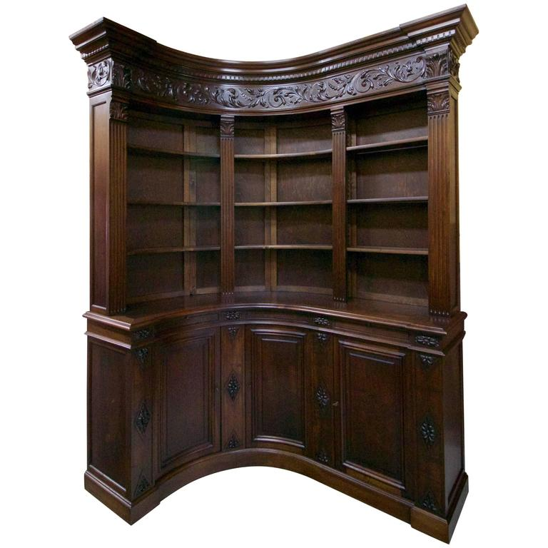 End of 19th Century French Walnut Corner Library 1