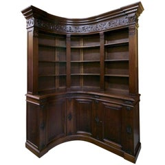 End of 19th Century French Walnut Corner Library